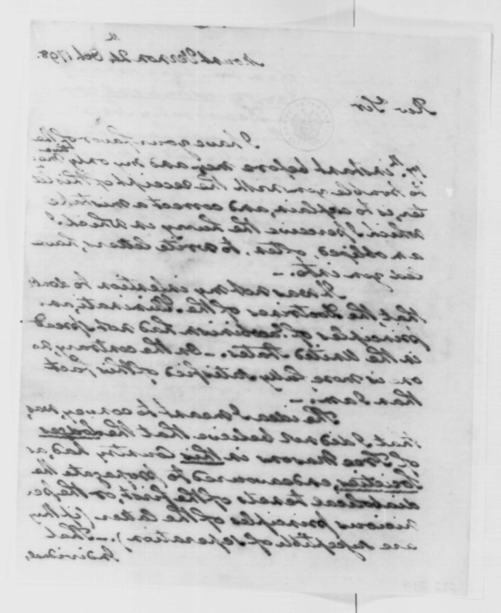 George Washington Illuminati Letter Oct 24th, 1798 - image 2 of 4