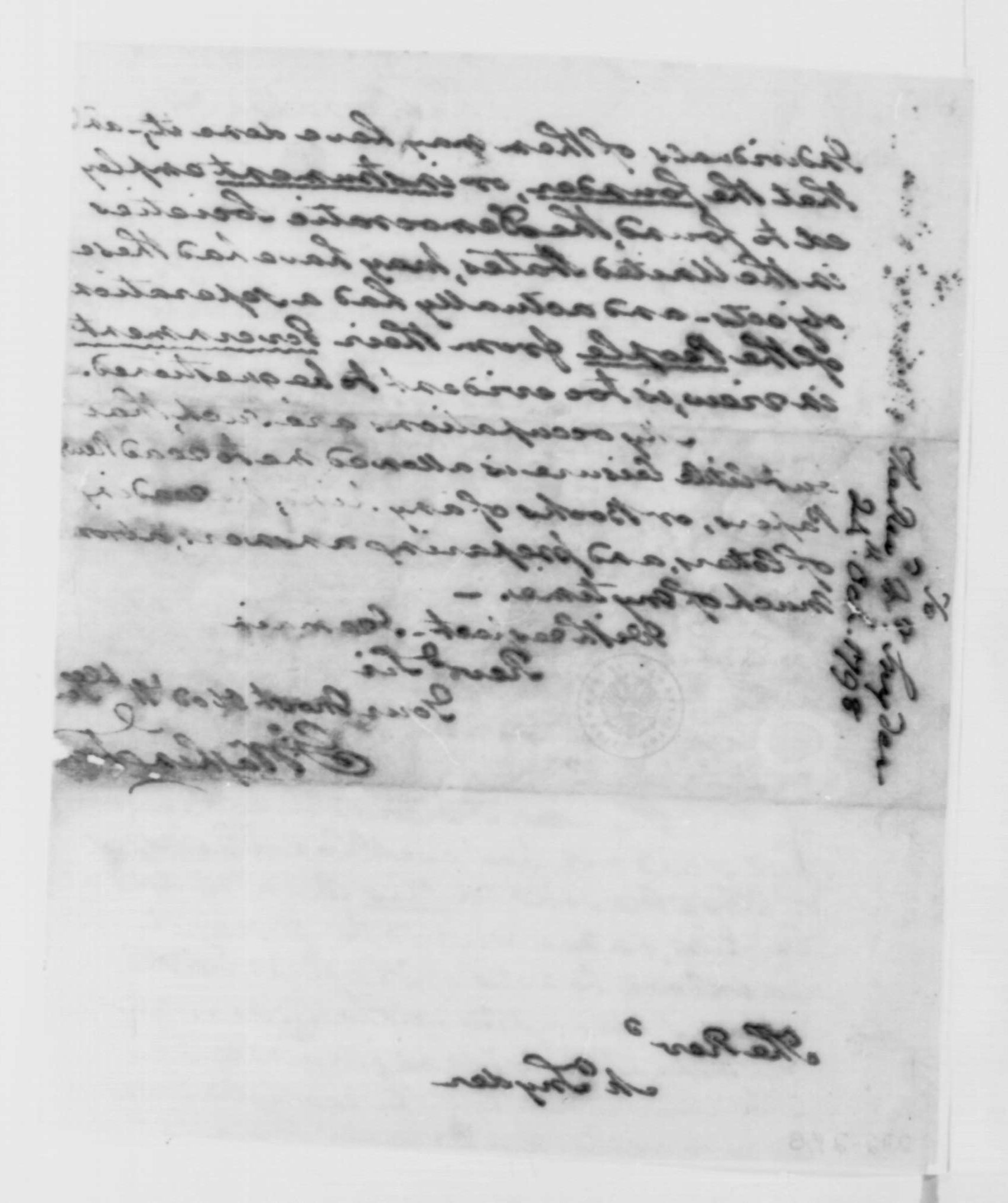 George Washington Illuminati Letter Oct 24th, 1798 - image 4 of 4